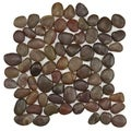 SomerTile 12x12-in Riverbed Red Natural Stone Mosaic Tile (Pack of 10)