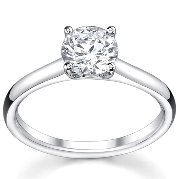14k White Gold 1ct TDW Diamond Solitaire Engagement Ring (I, VS2)