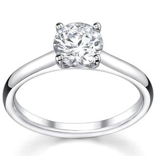 14k White Gold 1ct TDW Diamond Solitaire Engagement Ring (I, VS2)