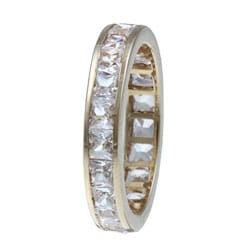 Ultimate CZ 10K Yellow Gold Cubic Zirconia Eternity Band Ring