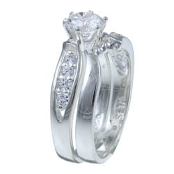 Ultimate CZ Sterling Silver Prong-set Cubic Zirconia Ring