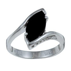 Angelina D'Andrea Sterling Silver Onyx Ring