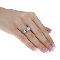 Ultimate CZ Two-tone Sterling Silver Round-cut Cubic Zirconia Ring