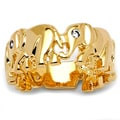 Ultimate CZ 14k Gold Overlay Cubic Zirconia Elephant Ring