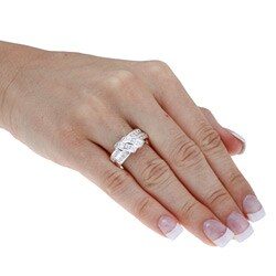 Ultimate CZ Sterling Silver Channel-set Cubic Zirconia Ring