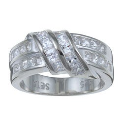 PalmBeach CZ Sterling Silver Channel-set Cubic Zirconia Ring Classic CZ