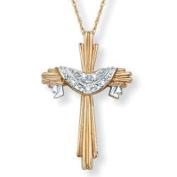 Isabella Collection 10k Gold Diamond Accent Cross Necklace