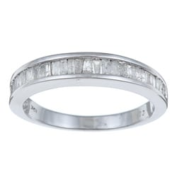 PalmBeach 10k White Gold 1/2ct TDW Diamond Wedding Band (H-I, I3) Diamonds & Gems