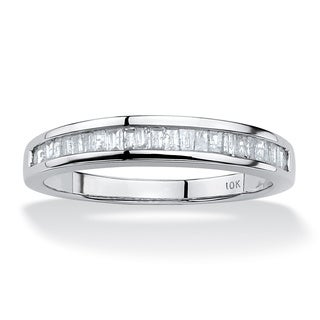 PalmBeach 3/8 TCW Baguette Diamond Ring in 10k White Gold