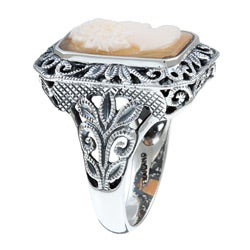 PalmBeach Sterling Silver Cameo Ring Naturalist