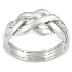 Tressa Sterling Silver Four-piece Puzzle Ring