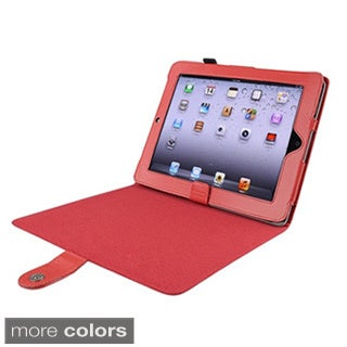 Leather Case with Magnetic Closure and Kickstand for Apple iPad