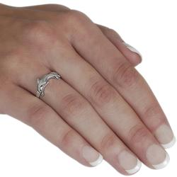 Journee Sterling Silver Dolphin Ring