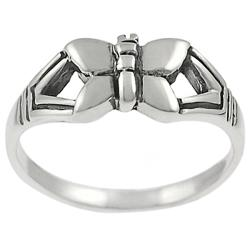 Tressa Sterling Silver Butterfly Ring