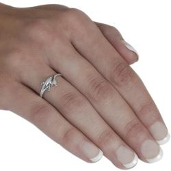 Tressa Sterling Silver Dolphin Head and Tail Ring