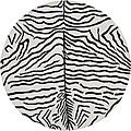 Hand-Tufted Zebra-Print Mandara New Zealand Wool Rug (7'9 Round)