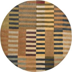 Hand-tufted Mandara Multi Wool Rug (7'9 Round)