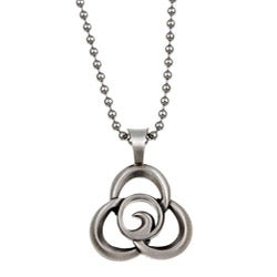 Bico Australia Silvertone Pewter Trilogy Necklace
