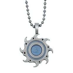 Bico Australia Silvertone Pewter Flaming Sun Necklace