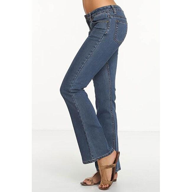 Rue Blue Women's Euro Wash Flare Jeans