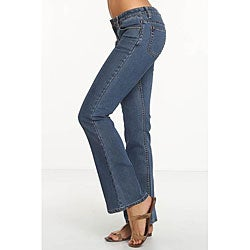 Rue Blue Women's Euro Wash Flare Jeans