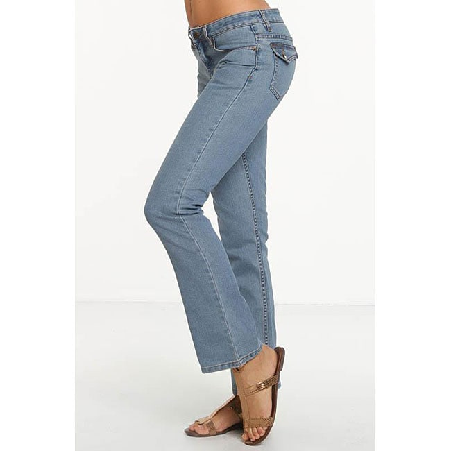 Rue Blue Women's St. Tropez Wash Straight Leg Jeans