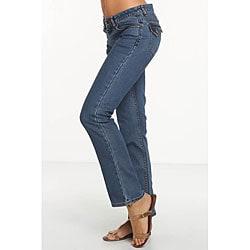 Rue Blue Women's Euro Wash Straight Leg Jeans