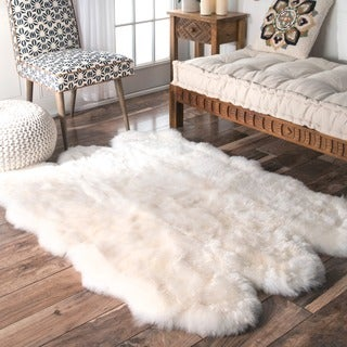 "Alexa Sexto Sheepskin/ Wool Shag Rug (3' 11"" x 5' 3"")"