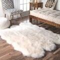 Alexa Sexto Sheepskin/ Wool Shag Rug (3' 11