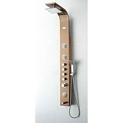 Fresca Geona Stainless Steel Bronze Thermostatic Shower Massage Panel