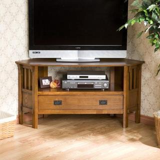 Copper Grove Ouachita Oak Corner TV Stand