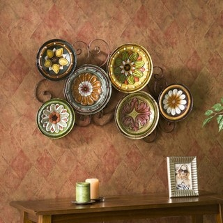 Forli Scattered 6-piece Italian Plates Wall Art Set