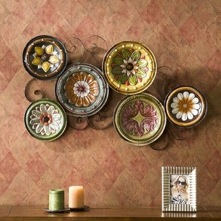 Forli Scattered 6-piece Italian Plates Wall Art Set