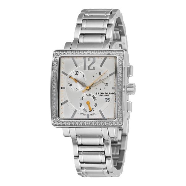 Stuhrling Original Women's Diamond Chronograph Watch