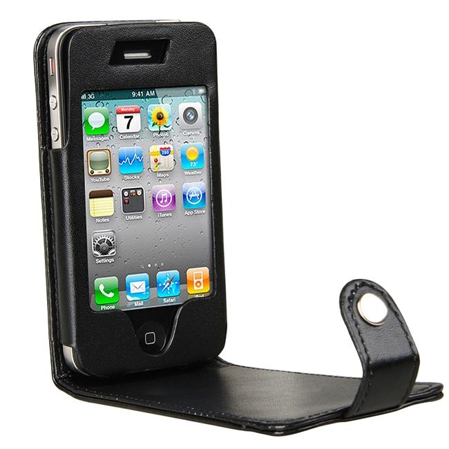 INSTEN Leather Phone Case Cover for Apple iPhone 4