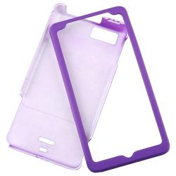 Dark Purple Rubber Coated Case for Motorola Droid X