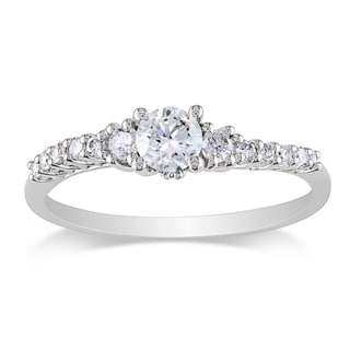 Miadora 14k White Gold 1/2ct TDW Diamond Ring (G-H, I2-I3)