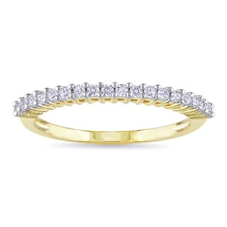 Miadora 10k Yellow Gold 1/5ct TDW Diamond Wedding Band (G-H, I2-I3)