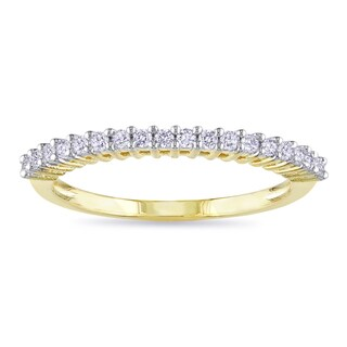 Miadora 10k Yellow Gold 1/5ct TDW Diamond Wedding Band (G-H, I2-I3)