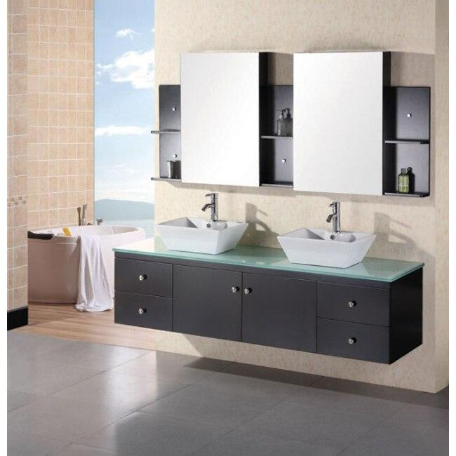 Design Element New Port Wall Mount Double Sink Bathroom Vanity Set at Sears.com