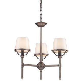 Indoor 3-light Antique Pewter Chandelier