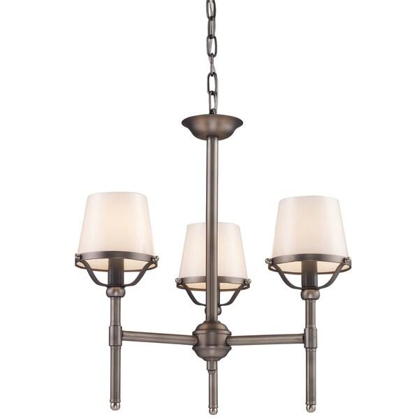 Indoor 3-light Antique Pewter Chandelier