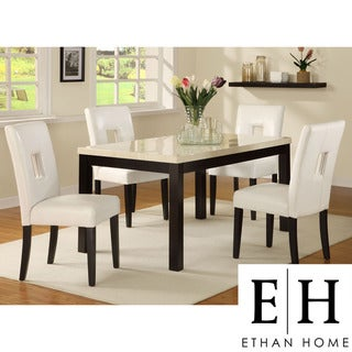 ETHAN HOME Mendoza White 5-piece Modern Casual Dining Set