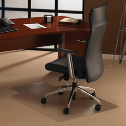 Floortex Cleartex Ultimat Chair Mat. Rectangular with Lip (48 x 53) for Carpet