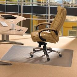 "Floortex Cleartex Advantagemat Clear PVC Chair Mat (46"" x 60"") for Carpet"