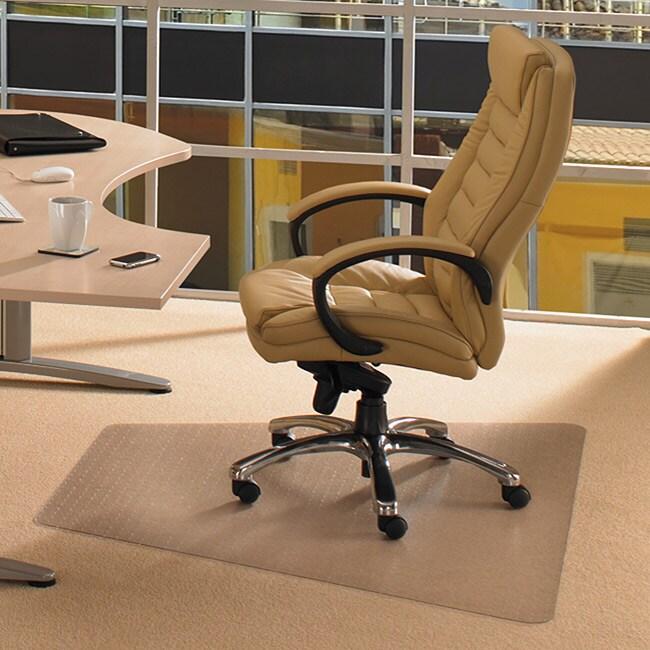 Floortex Cleartex Advantagemat Trapezoid Pvc Chair Mat (46 X 60) For Carpet