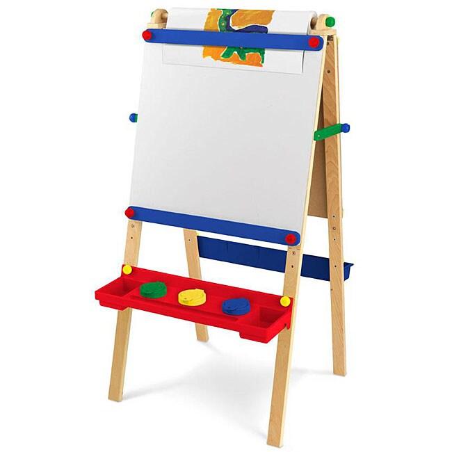kidkraft artist easel with paper roll toys games arts crafts easels art desks. Black Bedroom Furniture Sets. Home Design Ideas