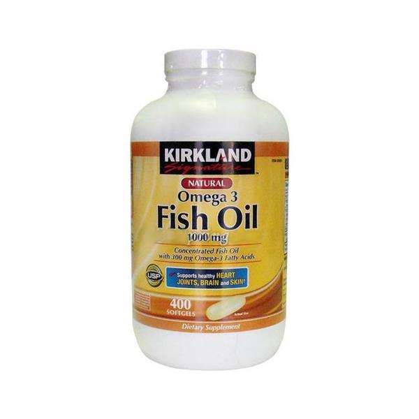 Kirkland signature natural omega 3 fatty acid 400 ct fish for Kirkland fish oil review