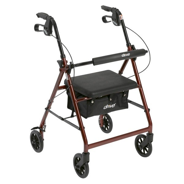 Drive Aluminum Fold Up/ Removable Back Support and Padded Seat Rollator