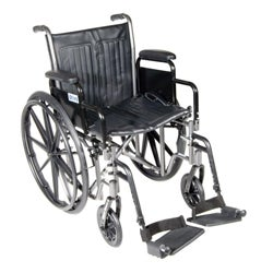 Silver Sport 2 Wheelchair with Detachable Desk Arms and Footrests